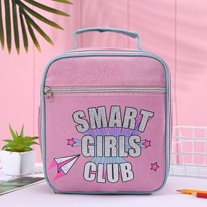 Aeropostale Light Pink and Blue Lunch Bag